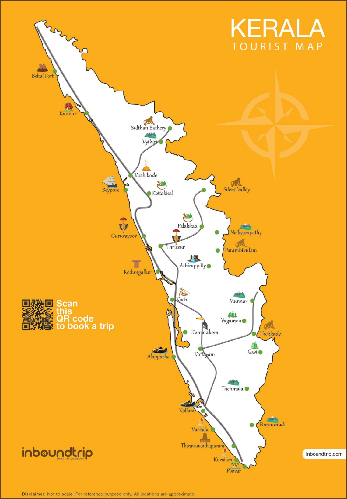 Kerala-Tourist-Map