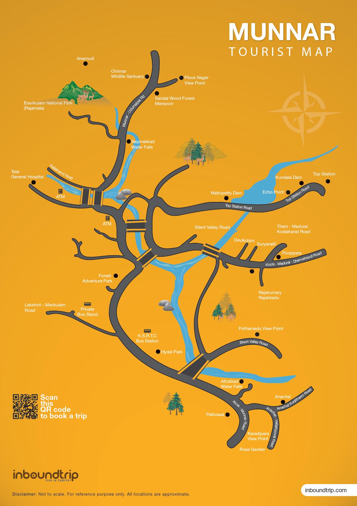 munnar tourist map – inboundtripcom - munnartouristmap