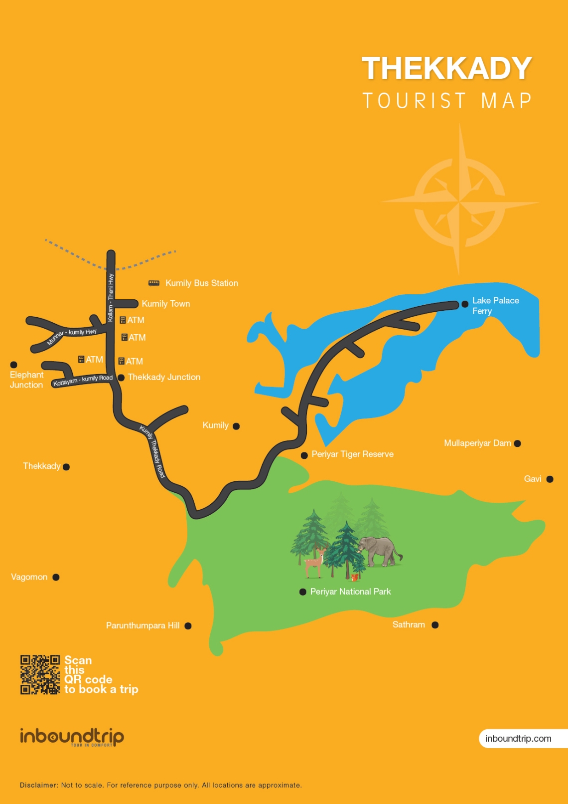 Thekkady-Tourist-Map